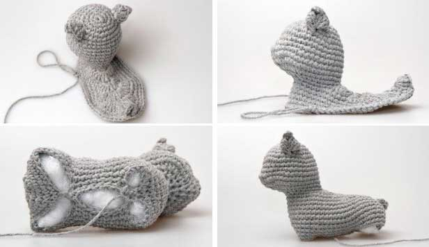 Амигуруми: кошка, связанная крючком