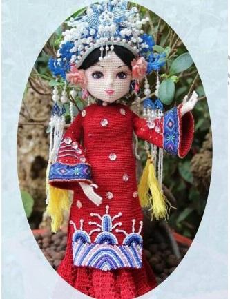 Китайская принцесса крючком: как связать куклу