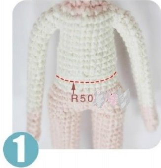 Куколка амигуруми: красавица Мора