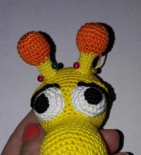 Развивающая игрушка жирафик крючком