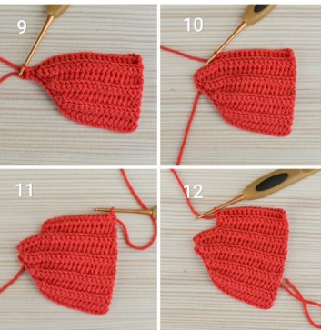 Новогодний мышонок крючком в красной шапочке.