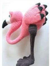 Семья фламинго крючком: схема