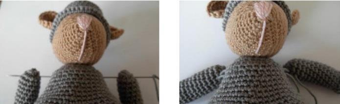 Крыс амигуруми крючком с фонариком